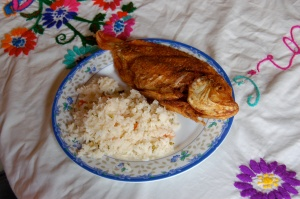 Fried tilapia by Bruce Stambaugh