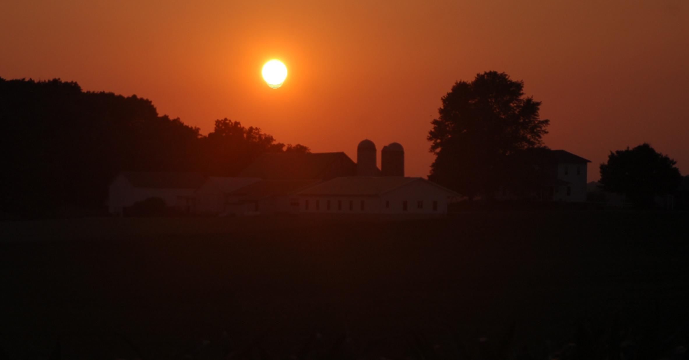 Farm sunset by Bruce Stambaugh