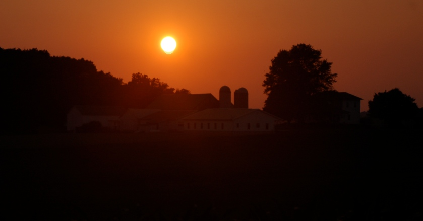 Farm sunset by Bruce Stambaugh