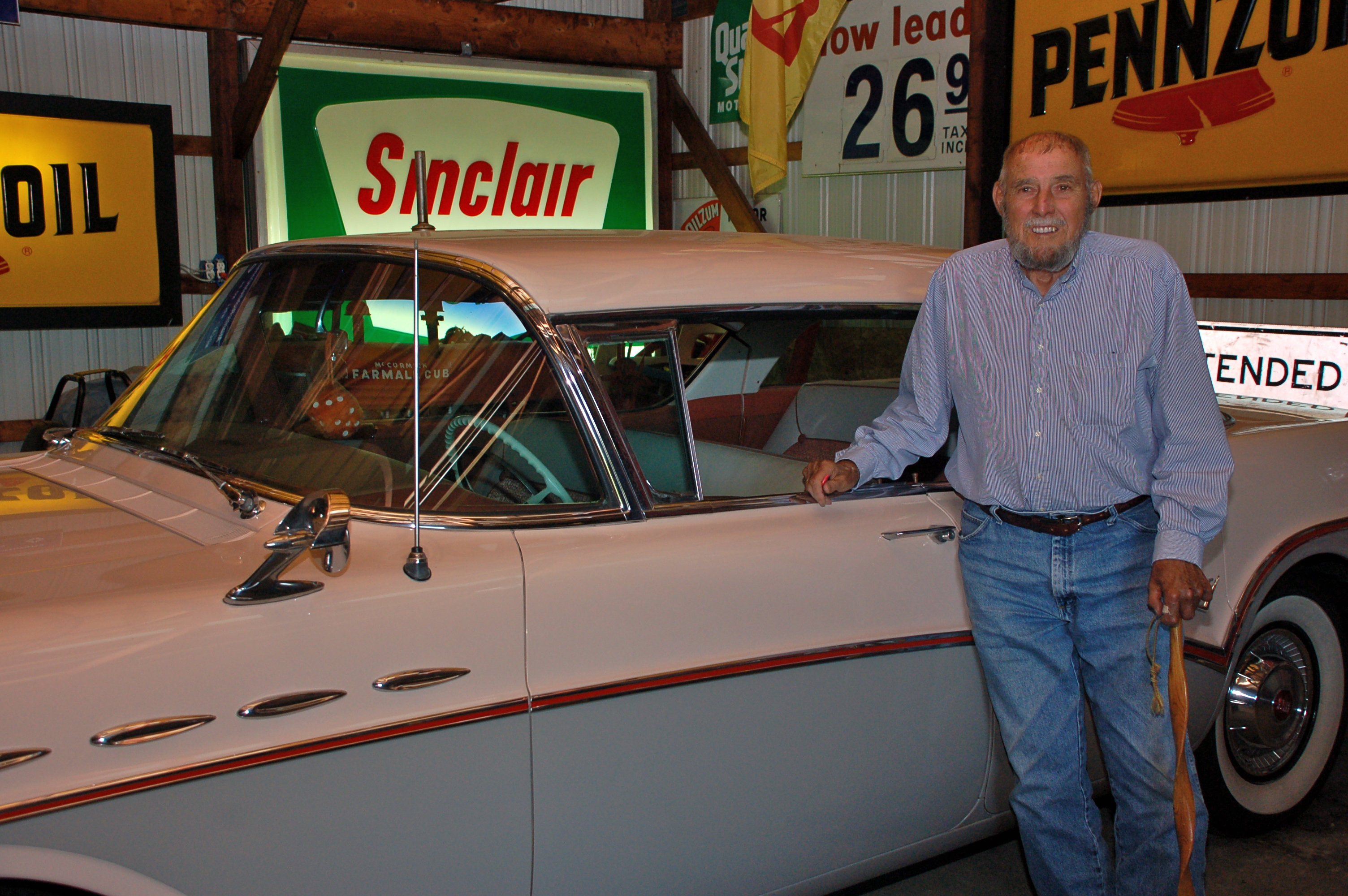 Carl and car by Bruce Stambaugh