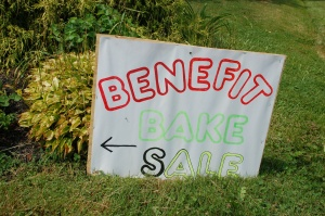 Bake sale sign by Bruce Stambaugh
