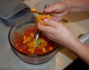 Peach salsa by Bruce Stambaugh