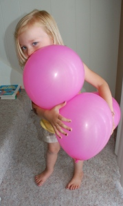 Pink balloons by Bruce Stambaugh