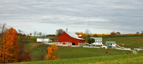 Fall farm by Bruce Stambaugh