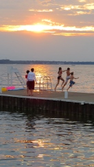 Sunset swims are a good way to complete a day at Lakeside.