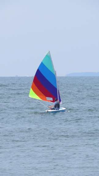 Rainbow sailing. © Bruce Stambaugh 2014.