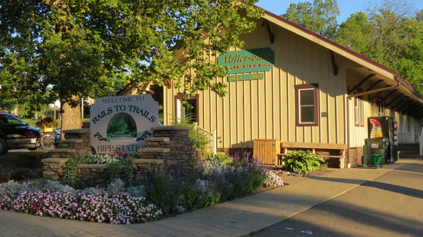 Holmes County Rails to Trails depot by Bruce Stambaugh