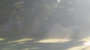 Sunrays streaming by Bruce Stambaugh