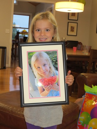 Watermelon photo granddaughter