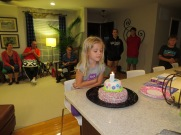 birthday cake, candle, five year old