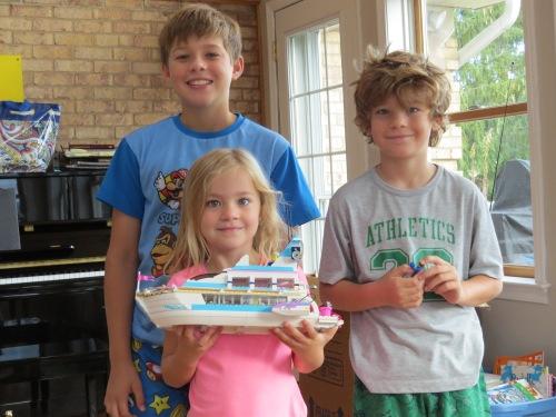 Lego Dolphin cruise boat, grandkids