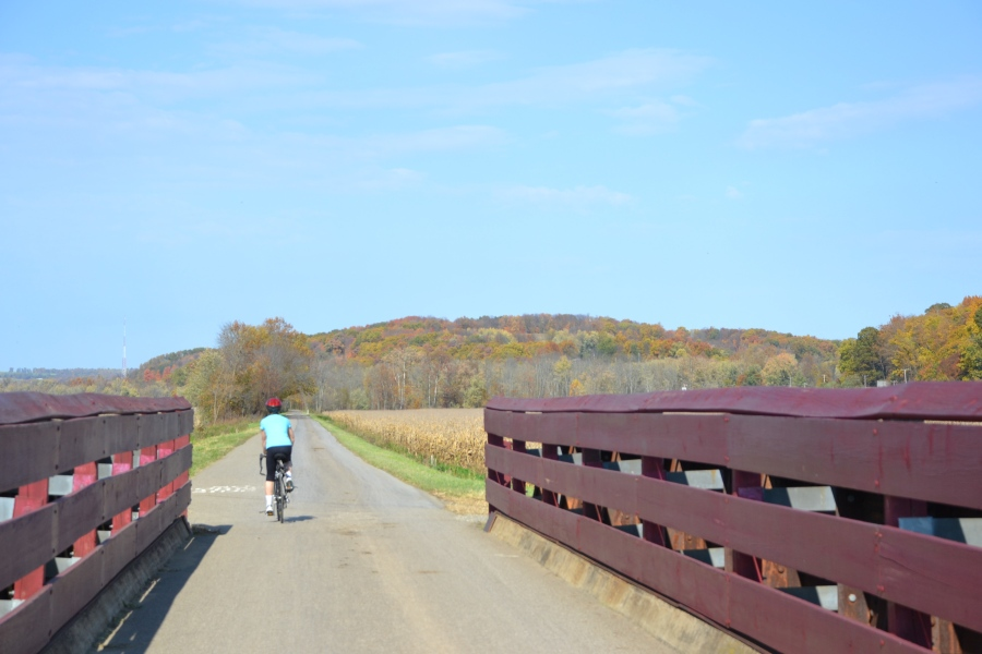 Bridge on Holmes County Trail by Bruce Stambaugh
