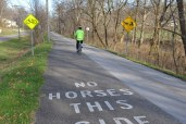 Biking on the Holmes County Trail by Bruce Stambaugh
