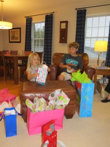 birthday presents, celebration, Bruce Stambaugh