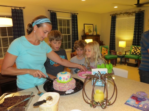 cake and ice cream, birthday party
