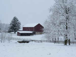 barn in snow, Holmes County Ohio, Bruce Stambaugh, landscape photography