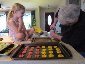 baking Christmas cookies, Christmas