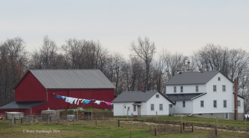 Amish, laundry line, wash line, wash day, Holmes County Ohio