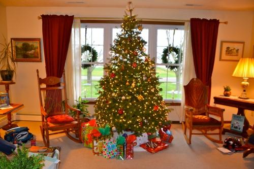 Christmas tree, Christmas, Christmas presents, Christmas decorations