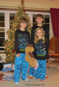 grandkids, grandchildren, pajamas, Christmas morning
