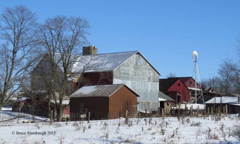 Amish farmstead, farm buildings, Ohio's Amish country,
