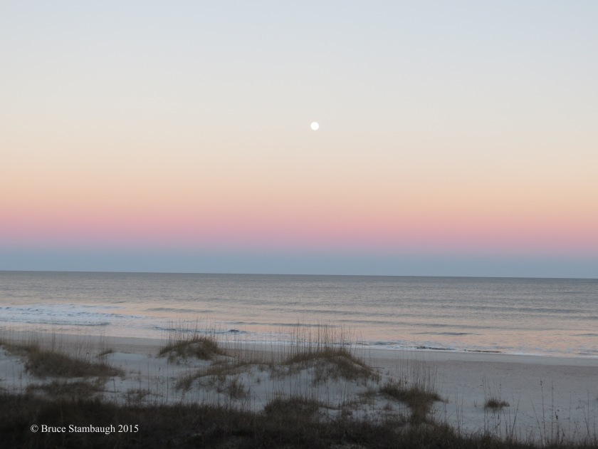 full moon, Belt of Venus, Atlantic Ocean