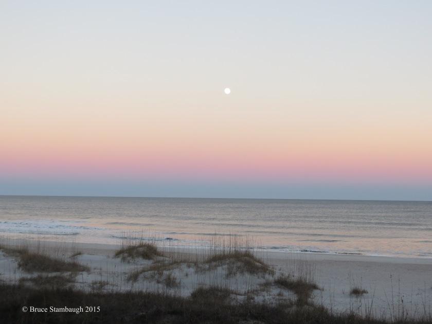 full moon, Belt of Venus, Atlantic Ocean