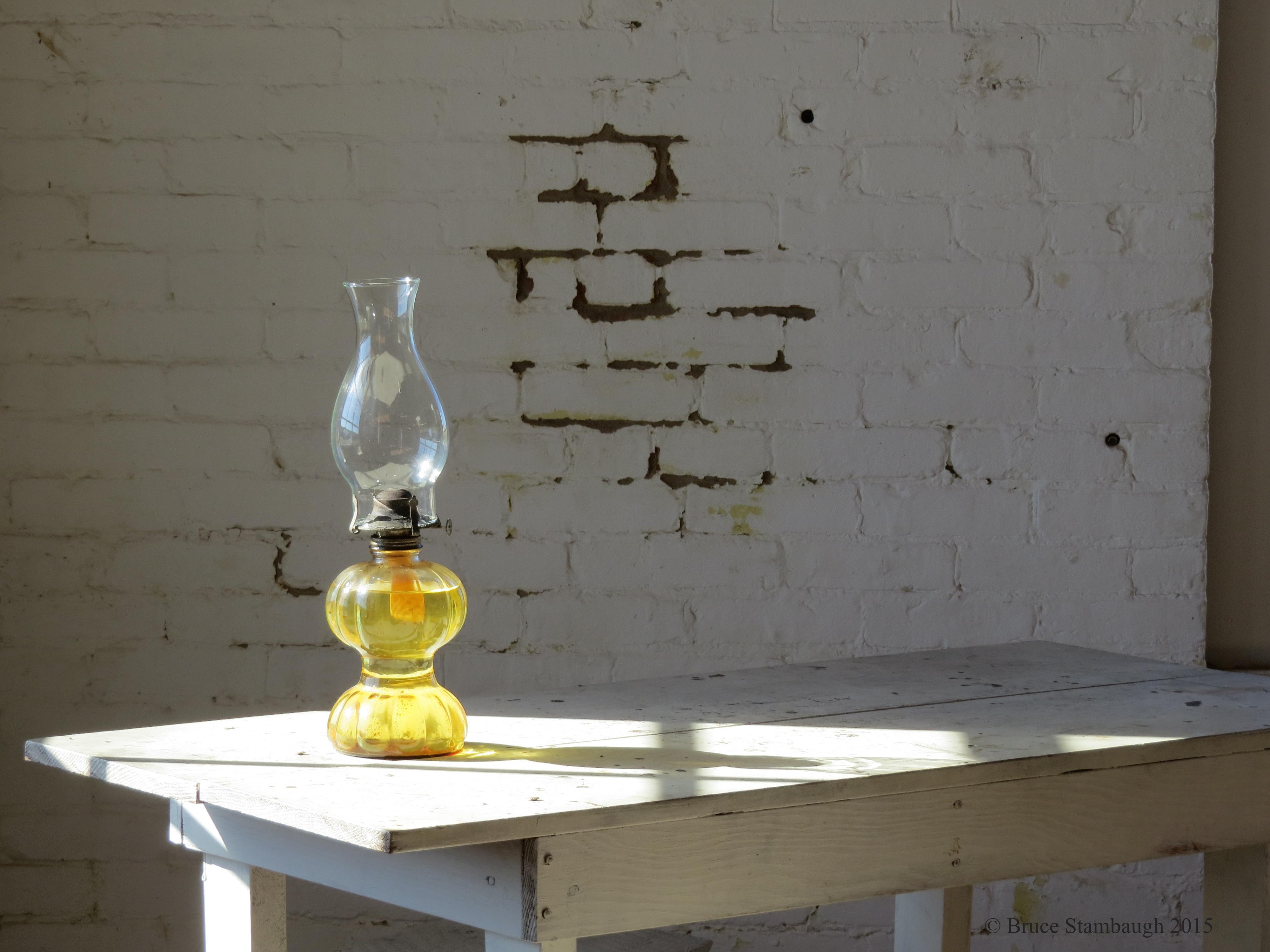 oil lamp, sunlight, sunrays,