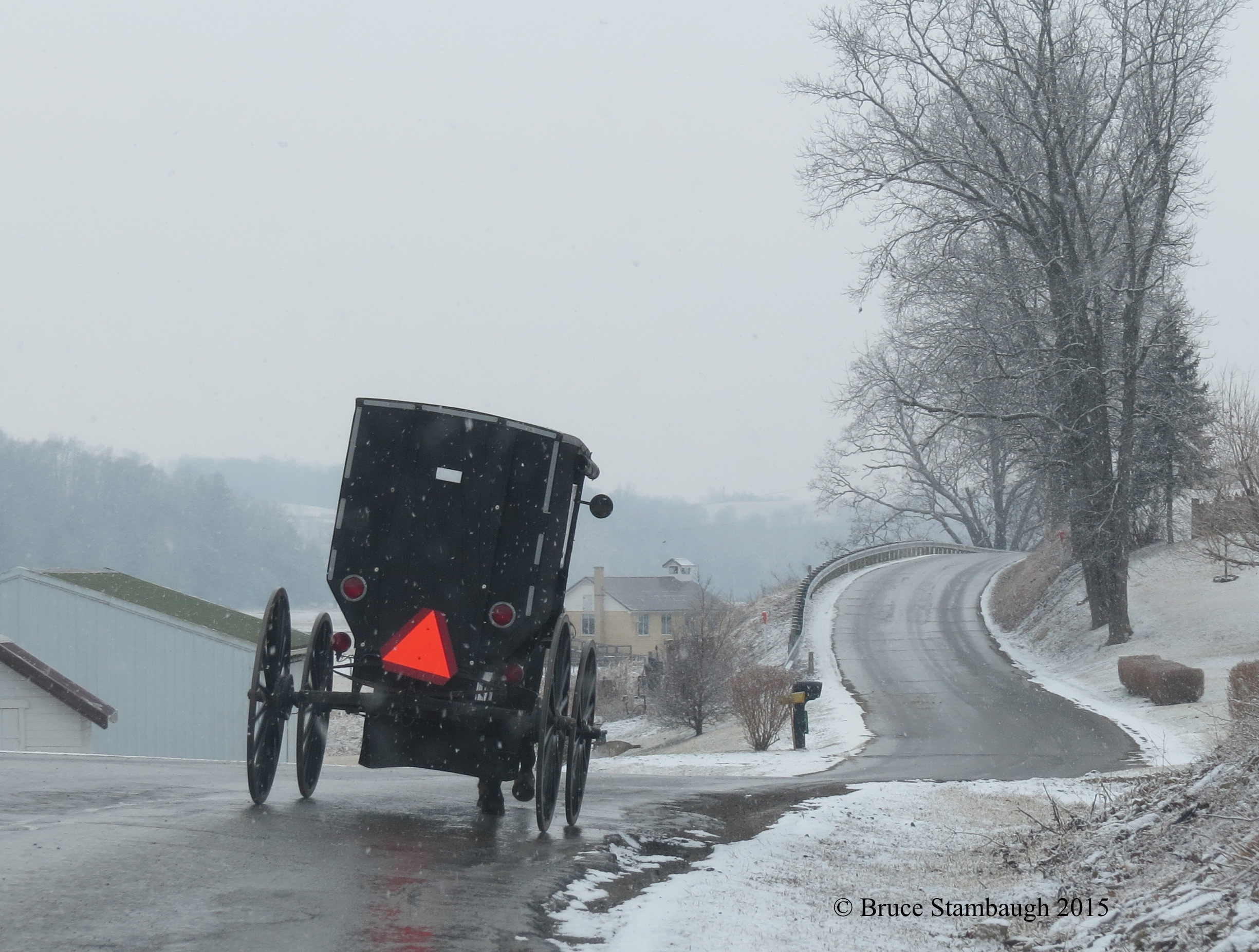 Amish buggy, first day of spring