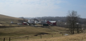 Amish farm, early spring