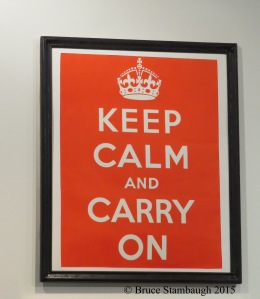 Keep calm sign