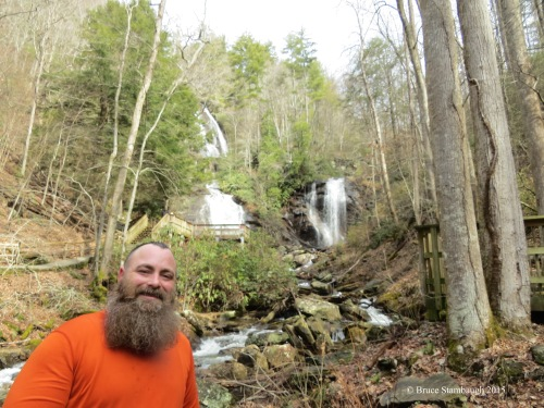 Anna Ruby Falls, mountain man, hiker, friend