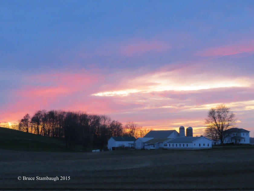 colorful sunset, Ohio's Amish country