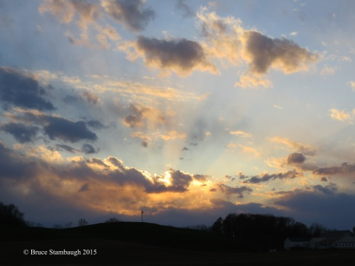 sunset in Ohio's Amish country