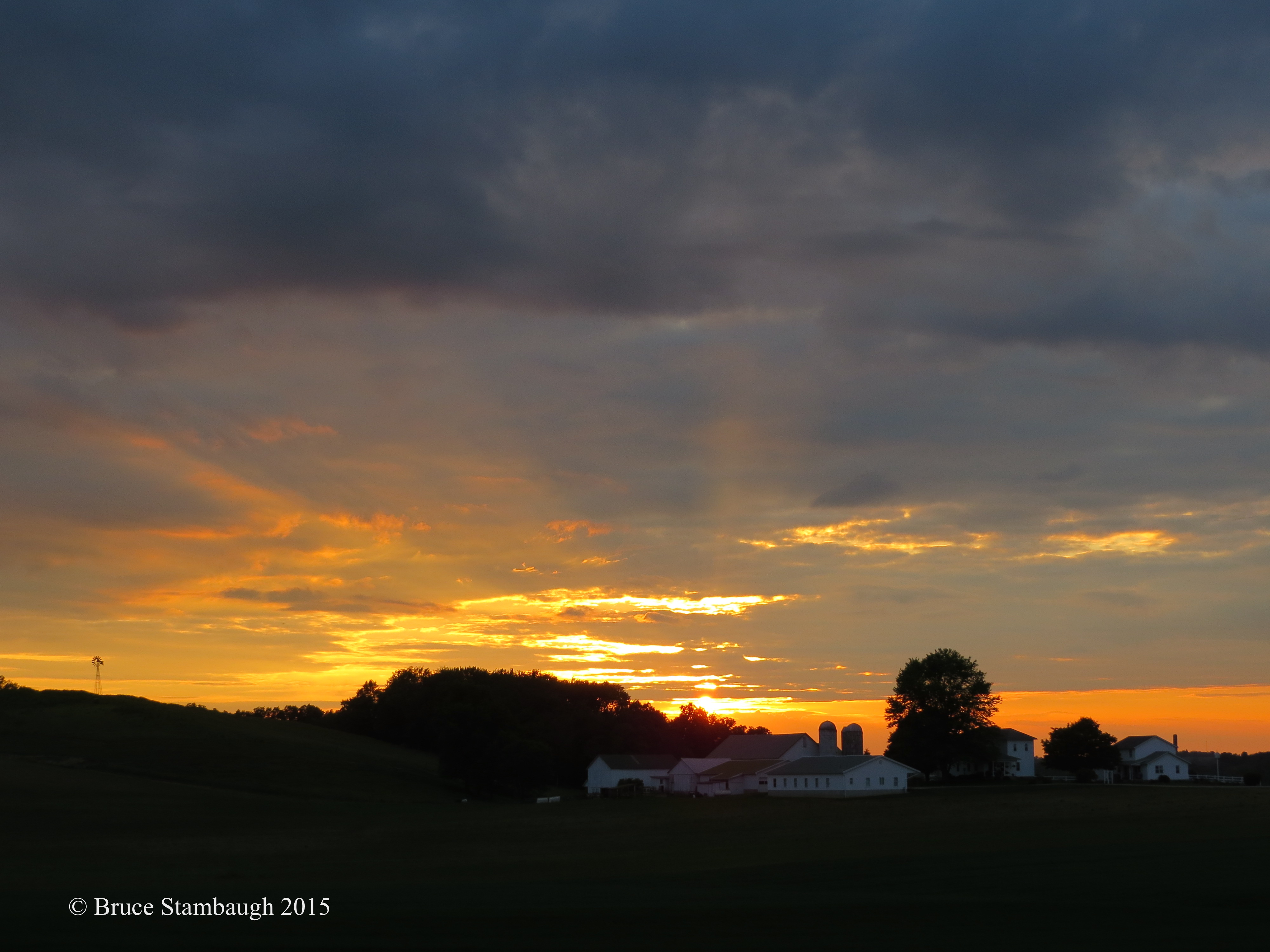 rural sunset, Holmes County OH