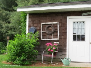 Potting shed, landscape decorations