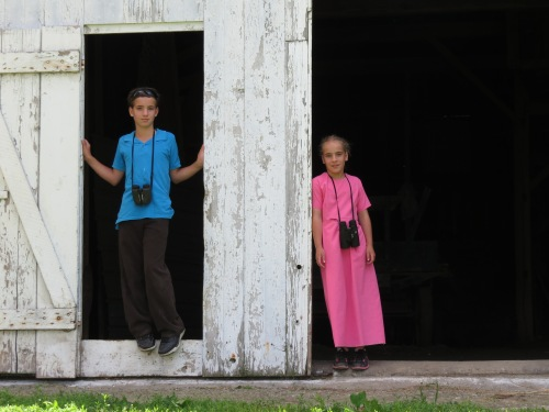 Amish boy and girl,