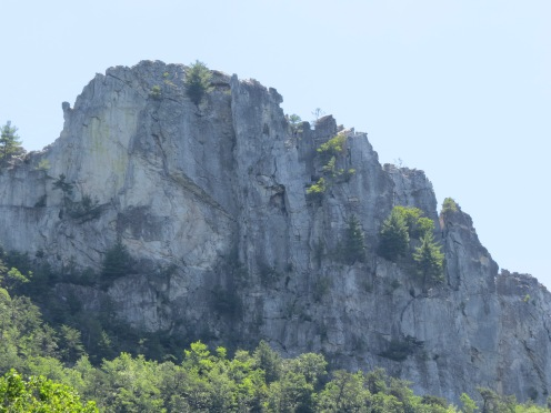 rock wall, Seneca Rocks