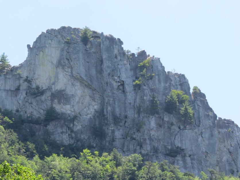 rock wall, Seneca Rocks