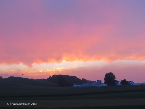 August, sunset, Holmes Co. OH