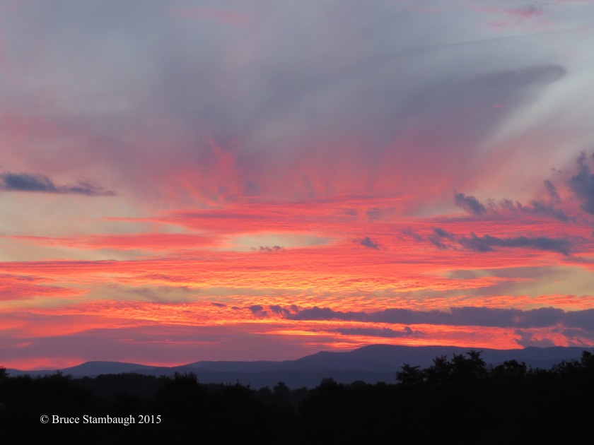 Allegheny sunset, Shenandoah sunset