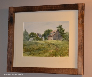 Virginia family farm. watercolor