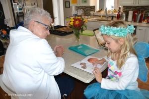 granddaughter, homework