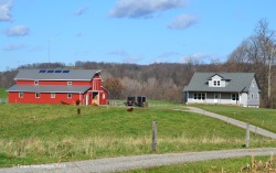 off the grid, Amish home