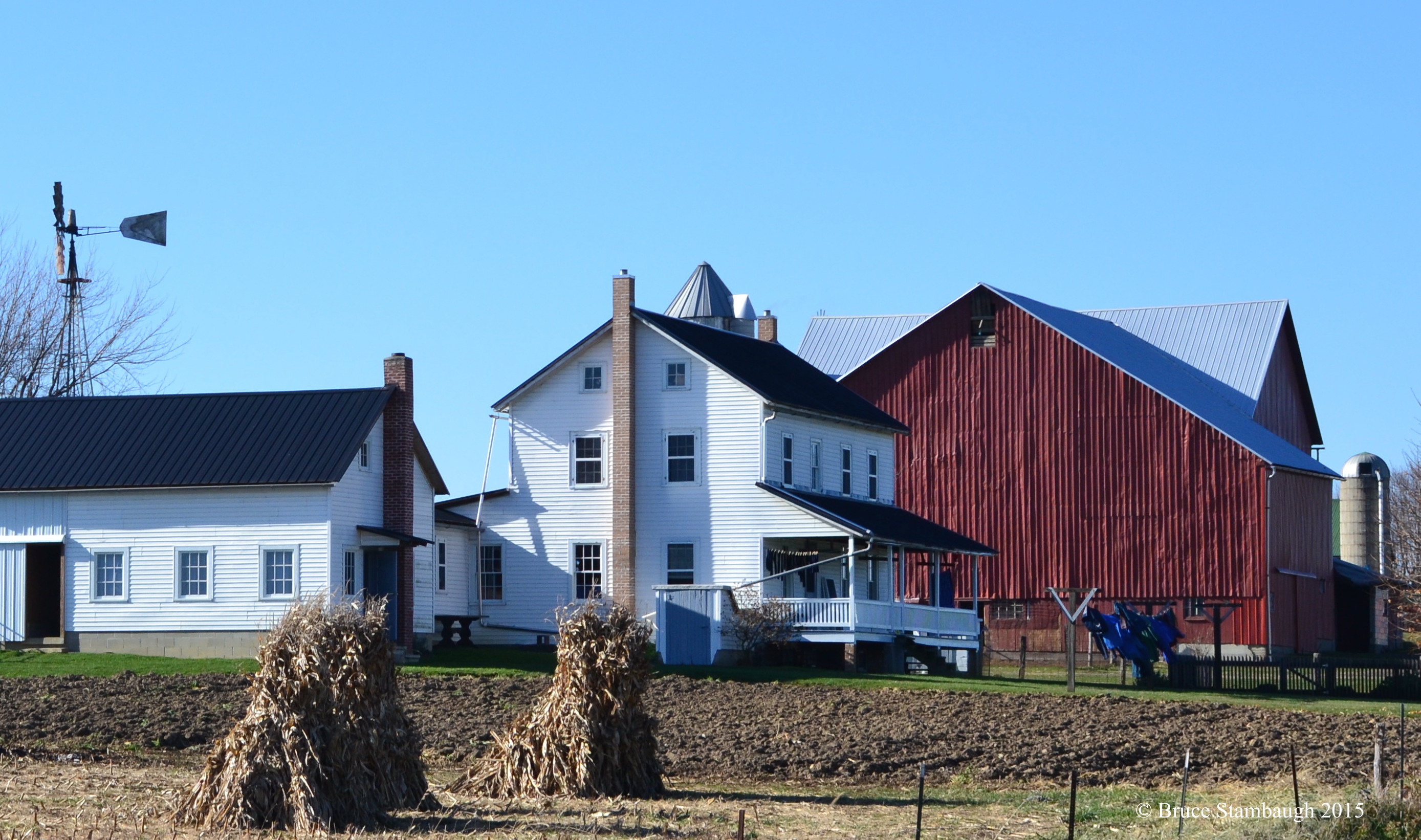 Amish farm, wash day