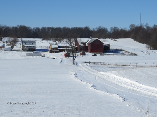 farm lane, winter in Ohio