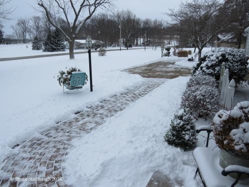 shoveling snow, Ohio
