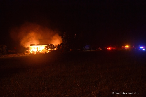 barn fire, Holmes Co. OH