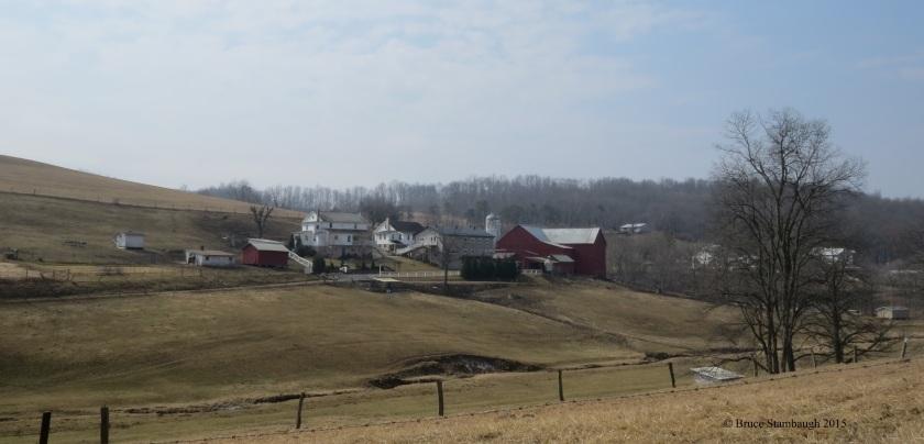 rural view, farmstead, Holmes Co. OH