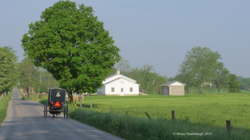 Amish country, spring, Amish buggy, Amish school